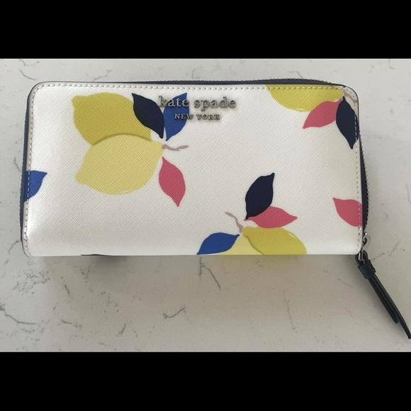 Kate Spade Lemon Zest Large Continental Wallet